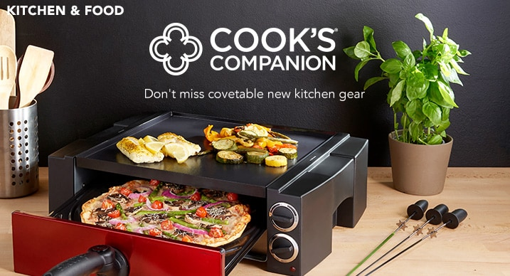 COOK'S COMPANION® - Don't miss covetable new kitchen gear at Evine - Cook's Companion® Multi Function Pizza Oven, Griddle & Kabob Cooking Station - 467-101