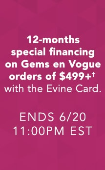 12-months special financing with the Evine Card