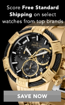 Score Free Standard Shipping on select watches from top brands at Evine