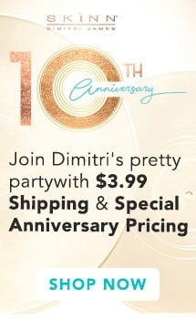 Celebrate with $3.99 Shipping on all Skinn Cosmetics orders and Special Anniversary Pricing