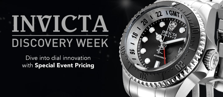 INVICTA DISCOVERY WEEK - Dive into dial innovation with Special Event Pricing at Evine - Invicta Reserve Men's 52mm Hydromax Swiss Quartz GMT Stainless Steel Bracelet Watch - 658-129