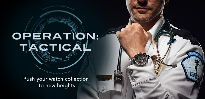 OPERATION: TACTICAL at Evine - Thomas Earnshaw Men's 43mm Longcase Swiss Made Quartz Chronograph Leather Strap Watch w/ Pen - 658-126