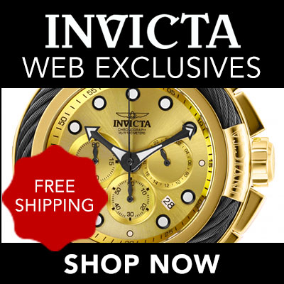 Free Shipping on Invicta Web Exclusives - 664-967 - Invicta Men's 52mm Bolt Quartz Chronograph Gold-tone Stainless Steel Bracelet Watch