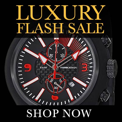 Luxury Flash Sale - 627-388 MOMODESIGN Men's 46.5mm Mirage Chrono Quartz Chronograph Strap Watch