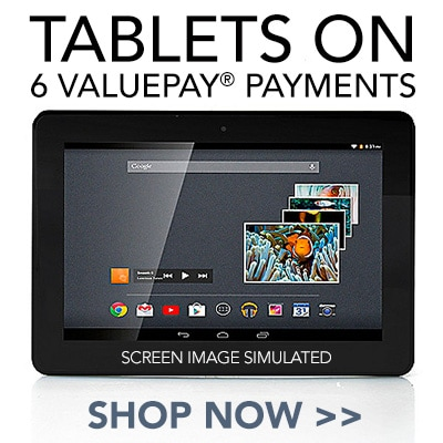 Tablets on 6 ValuePay® Payments at Evine - 473-354