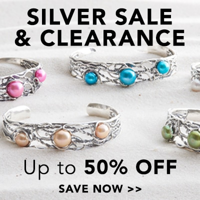 Silver Sale & Clearance - Up to 50% Off at ShopHQ - 162-744 - Passage to Israel™ Sterling Silver 7.5-10mm Freshwater Cultured Pearl Cuff Bracelet