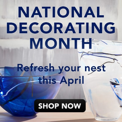 NATIONAL DECORATING MONTH - Refresh your nest this April at Evine