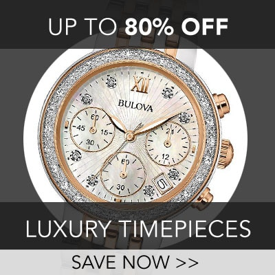Up to 80% off Luxury Timepiece at Evine - Bulova Women's Quartz Chronograph Diamond Accented Mother-of-Pearl Dial Two-tone Bracelet Watch - 656-701