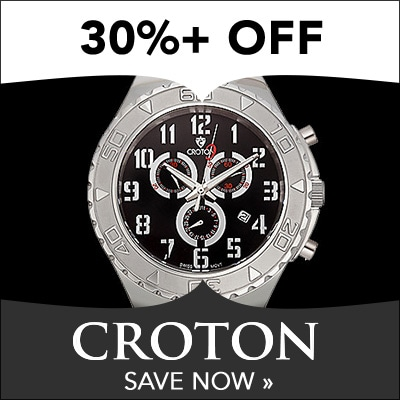 30%+ OFF CROTON at Evine - Croton Men's 48mm Swiss Quartz Chronograph Stainless Steel Bracelet Watch - 645-925