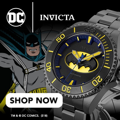 Invicta DC at Evine - Invicta DC Comics Justice League 38mm or 47mm Grand Diver Limited Edition Automatic Bracelet Watch - 656-018