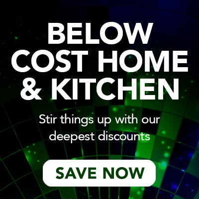 BELOW COST HOME & KITCHEN at Evine