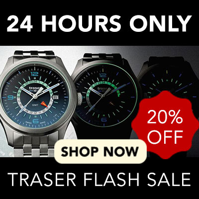 24 Hours Only Traser Flash Sale - 20% off at Evine