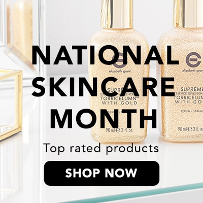 National Skincare Month at Evine -Elizabeth Grant Double Size Supreme Essence of Torricelumn w/ Gold Serum Duo - 314-230