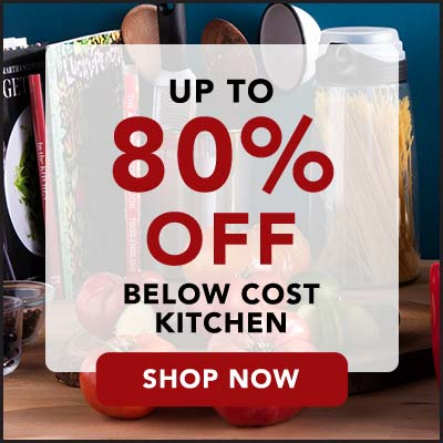 UP TO 80% OFF BELOW COST KITCHEN at Evine