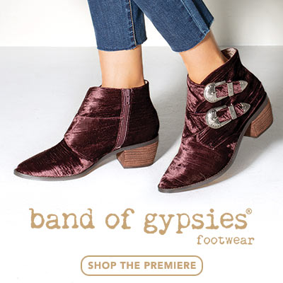 Band of Gypsies Footwear at Evine - Band of Gypsies 'Jericho' Buckle Detailed Western-Style Ankle Boots - 739-819