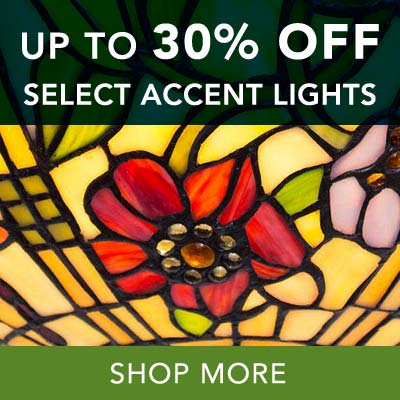 UP TO 30% OFF ACCENT LIGHTS at Evine - Tiffany-Style 15.5-inch Stained Glass Ceiling Semi-Flush Mount - 472-416