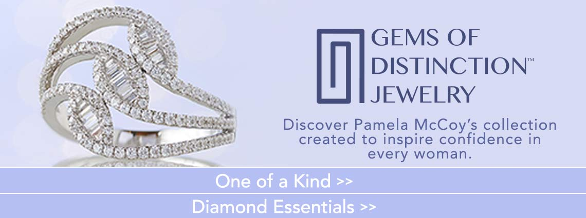 Gems of Distinction Jewelry- Discover Pamela McCoy's collection created to inspire confidence in every woman. - Gems of Distinction™ 14K White Gold 0.82ctw Baguette & Round Diamond Fashion Ring - 170-439