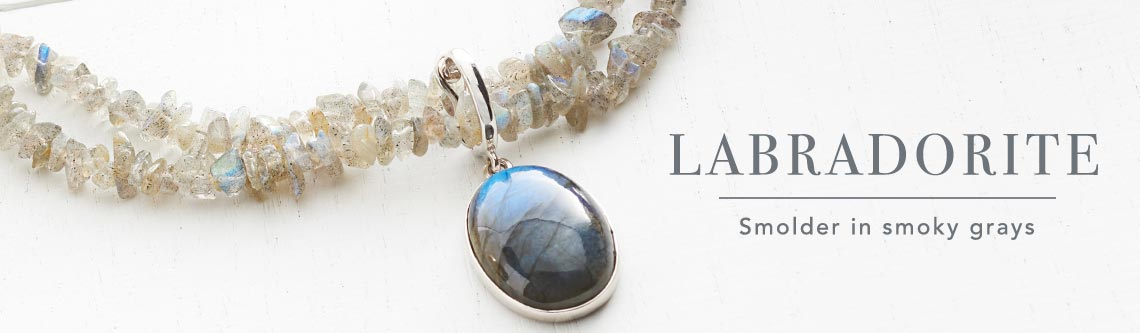 LABRADORITE Smolder in smoky grays at Evine