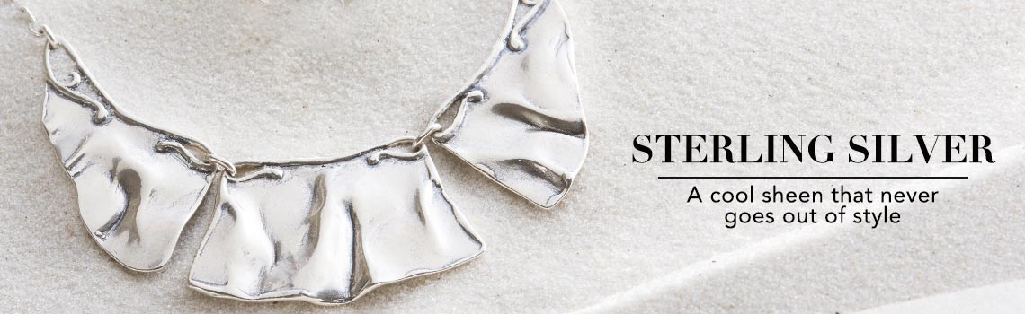 STERLING SILVER  A cool sheen that never goes out of style at ShopHQ - 138-444 Passage to Israel™ Sterling Silver 18 Three-Panel Bib Necklace, 22.3 grams