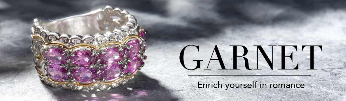 GARNET  Enrich yourself in romance at Evine - 159-141 Gems en Vogue 2.70ctw Color Change Purple Garnet Band Ring