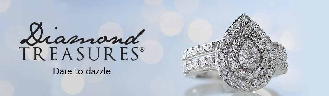 DIAMOND TREASURES  Dare to dazzle at Evine -   171-480 Diamond Treasures® Sterling Silver 0.35ctw Diamond Pear Ring