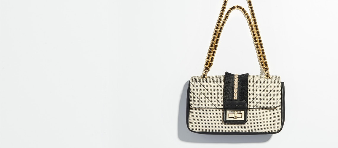 Karl Lagerfeld Paris at Evine - 741-868 Karl Lagerfeld Paris Agyness Flap-over Chain Detailed Shoulder Bag