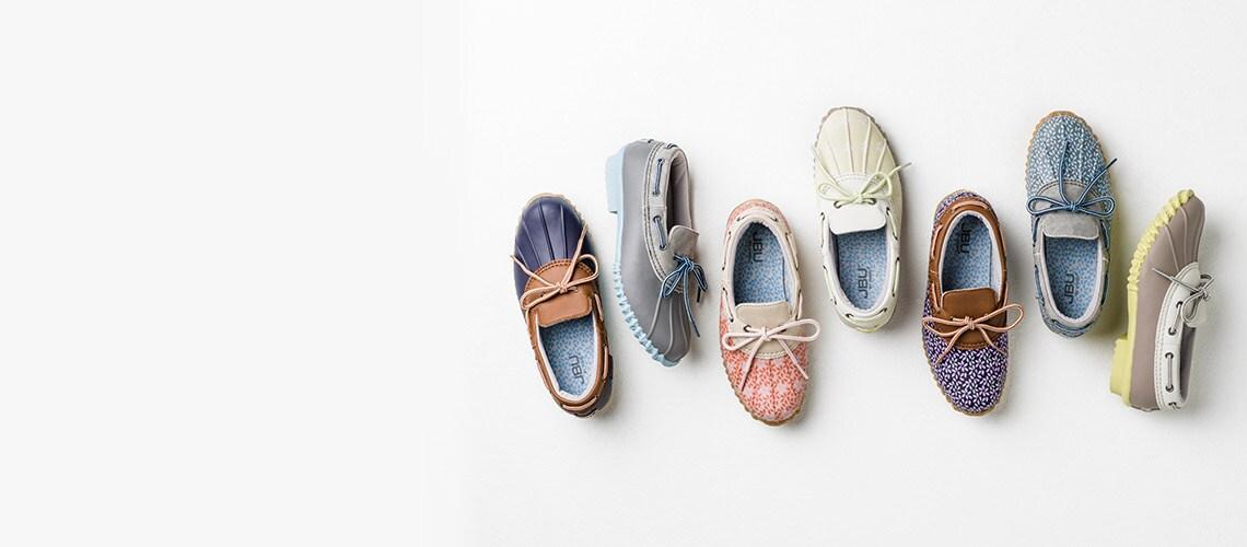 Jambu at Evine - 741-253 JBU by Jambu Gwen Rubber & Faux Leather Memory Foam Duck Shoes