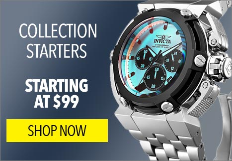 Starting at $99 Collection Starters - 646-786 Invicta Men's 46mm Coalition Forces X-Wing Tinted Crystal Quartz Chronograph Bracelet Watch