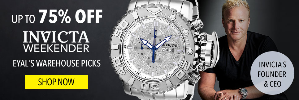 Up To 75% Off Invicta Weekender Eyal's Warehouse Picks Finds from the Founder - 656-909 Invicta Men's 58mm Sea Hunter Swiss Automatic 1.13ctw Diamond Stainless Steel Bracelet Watch