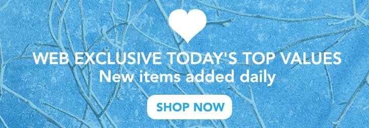 WEB EXCLUSIVE TODAY'S TOP VALUES New Items added daily at Evine