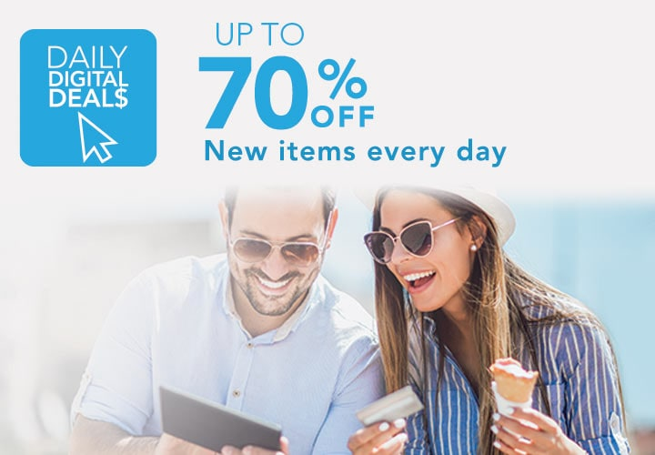 DAILY DIGITAL DEALS  Up to 70% off New items every day at Evine