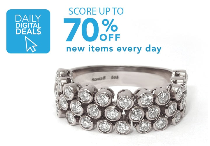 DAILY DIGITAL DEALS  Score up to 70% OFF new items every day at Evine -  138-545  Sonia Bitton Galerie de Bijoux® 14K White Gold 1.00ctw Genuine Diamond Flex Ring