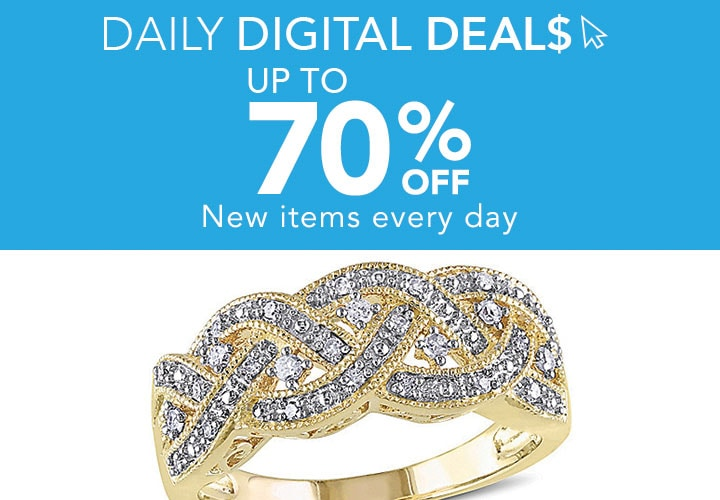 Up To 70% OFF - New items every day at ShopHQ - 185-310 Julianna B Sterling Silver 0.13ctw Diamond Infinity Ring
