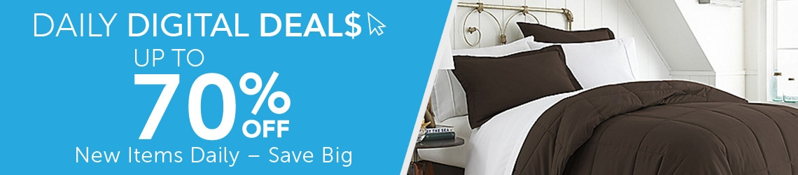 Daily Digital Deals  Up to 70% Off - 484-043 Home Collection 8-Piece Microfiber Comforter Set