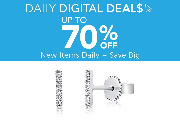 Daily Digital Deals  Up to 70% Off - 184-762 | Sabrina Designs 14K Diamond Bar Stud Earrings