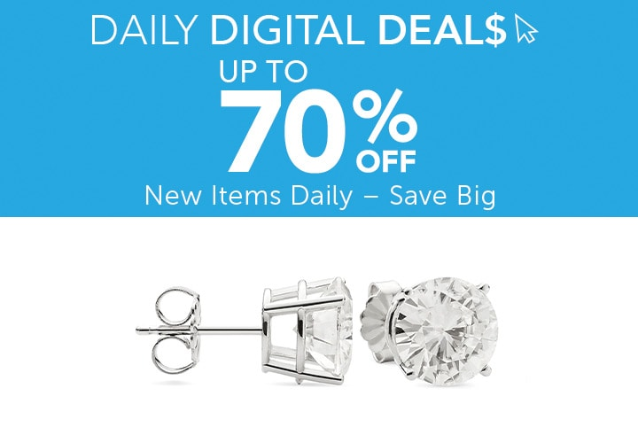 Daily Digital Deals  Up to 70% Off - 177-606 Moissanite by Charles & Colvard 14K Gold GHI Choice of DEW Round Cut Stud Earrings