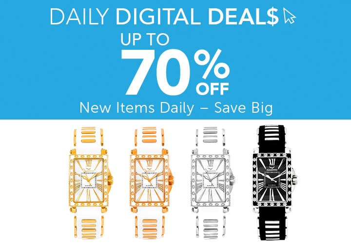 Weekend Web Surprise at ShopHQ | 642-857 Aquaswiss Women's Grace Quartz Diamond Accented Silicone Strap Watch