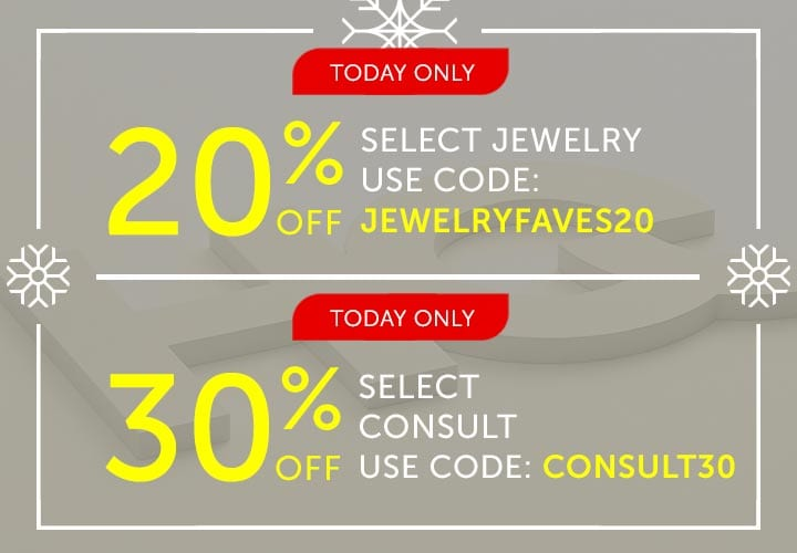 Today Only 20% OFF Select Jewelry Use Code: JEWELRYFAVES20  Today Only 30% OFF Select Consult Use Code: CONSULT30 at ShopHQ