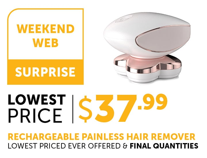 Weekend Web Surprise at ShopHQ  | 001-888 Flawless Legs by Finishing Touch Rechargeable Painless Hair Remover