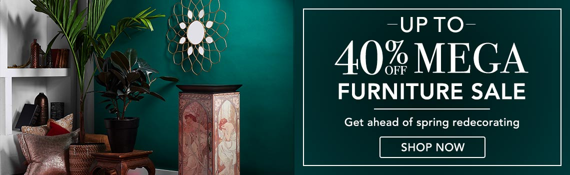 UP TO 40% OFF MEGA FURNITURE SALE  Get ahead of spring redecorating at Evine
