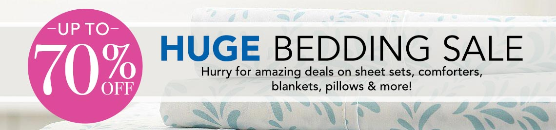 UP TO 70% OFF HUGE BEDDING SALE at Evine