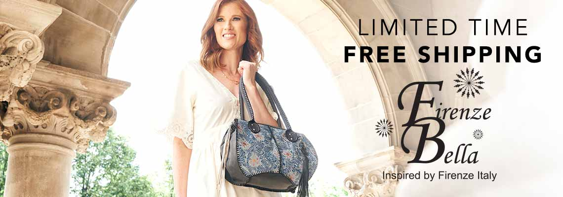 LIMITED TIME FREE SHIPPING FIRENZE BELLA HANDBAGS at Evine