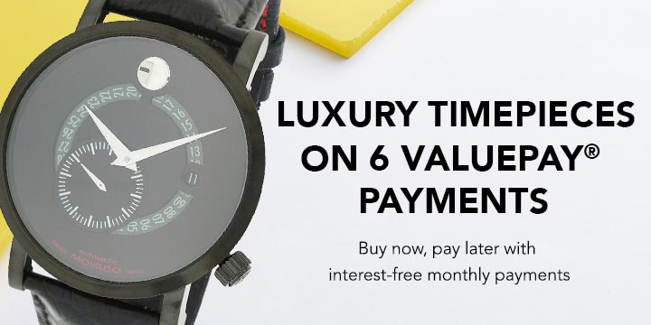 LUXURY TIMEPIECES ON 6 VALUEPAY® PAYMENTS - Buy now, pay later with interest-free monthly payments at Evine