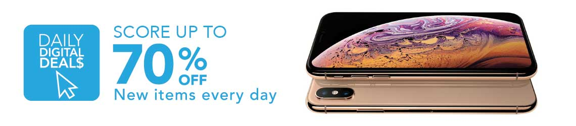 DAILY DIGITAL DEALS  Score up to 70% OFF new items every day at Evine -  484-473 Apple® iPhone Xs 5.8 4G LTE GSM  CDMA 64GB Unlocked Smartphone w Liquid Nano Screen Protector