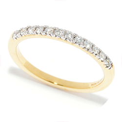 Rings at ShopHQ - 185-264 Diamond Treasures® 14K Gold 0.20ctw Diamond Half-Eternity Stack Band Ring