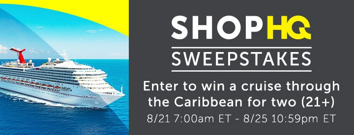 Enter to win a cruise through the Caribbean for two (21+) Sweepstakes details: 821 7:00am ET - 825 10:59pm ET