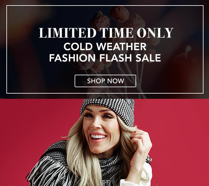 LIMITED TIME ONLY Cold Weather Fashion Flash Sale at Evine -