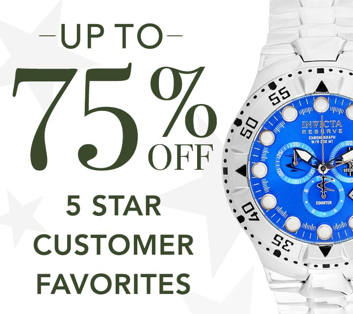 UP TO 75% OFF 5 STAR CUSTOMER FAVORITES at Evine - 621-400 Invicta Reserve Men's 50mm Excursion Swiss Quartz Chronograph Bracelet Watch