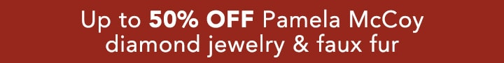 Up to XX% OFF Pamela McCoy diamond jewelry & faux fur at Evine
