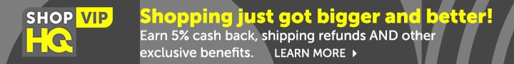 ShopHQ VIP - Shopping just got bigger and better! Earn 5% cash back, shipping refunds AND other  exclusive benefits.
